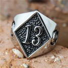 Lucky 13 Stainless Steel Ring