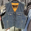 "Size 50"" Blue Denim Vest with Side Laces - CLEARANCE"