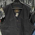Size 56 Black Lightweight Denim Vest with Side Laces - CLEARANCE