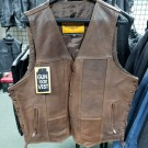 "Size 48"" Brown Motorcycle Vest - CLEARANCE"