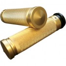 """Brass Knurled Custom Grips - 1"""" (Notched or Fly-By-Wire)"""
