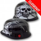 [CLEARANCE] German Skull & Flames - Silver - H10SV