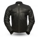 First Manufacturing Turbine Perforated Leather Jacket