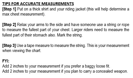 Tips for Sizing Chart